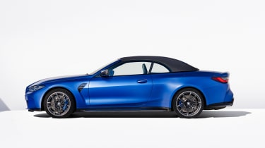 2021 BMW M4 Competition Convertible M xDrive -  side view roof up