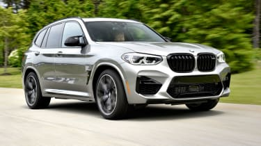 BMW X3 M Competition SUV front 3/4 tracking