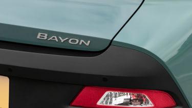 Hyundai Bayon SUV rear badge