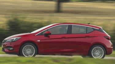 Vauxhall Astra hatchback side panning