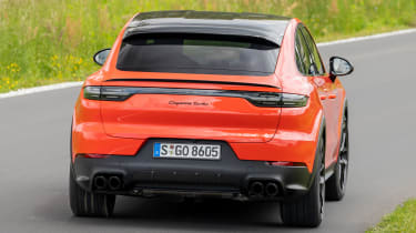 Porsche Cayenne Coupe SUV tail action