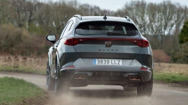 Cupra Formentor SUV review rear 3/4 cornering