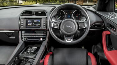 The interior is stunning, with a rotary gear selector that slowly rises from the centre console when you start the car