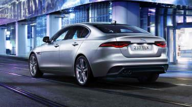 2020 Jaguar XE facelift driving - rear