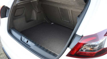 The Peugeot has a large 470-litre boot, dwarfing the Volkswagen Golf and Ford Focus
