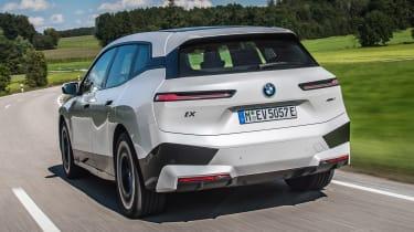 BMW iX SUV rear tracking