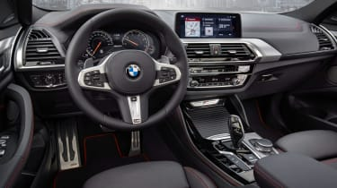 BMW X4 wide interior shot, dashboard