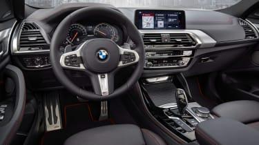 BMW X4 wide interior shot, dashboard