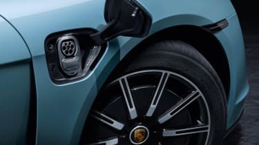 2020 Porsche Taycan 4S - electric charging socket