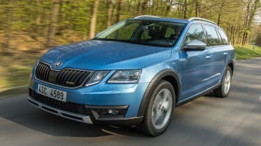 The Octavia Scout sits 30mm higher than the standard Octavia Estate