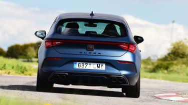 Cupra Leon hatchback rear dynamic