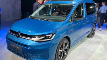 Blue Volkswagen Caddy