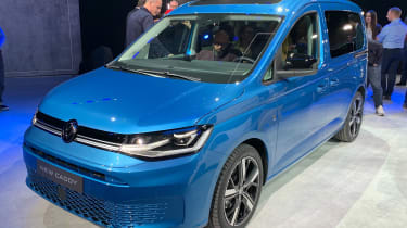 Blue Volkswagen Caddy