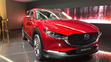 Mazda CX-30 SUV - Geneva - front quarter