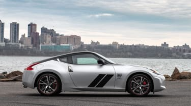 Nissan 370Z 50th Anniversary Edition - side view silver/black