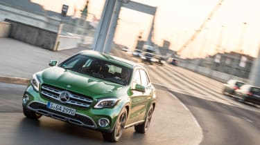 The raised suspension makes the GLA comfortable to drive, taking bumps and potholes in its stride