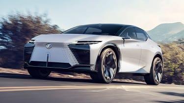 Lexus LF-Z concept - front 3/4 dynamic