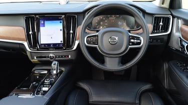 The V90 T8's interior is luxurious, well designed and made from quality materials