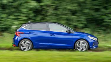 2020 Hyundai i20 prototype - side view dynamic