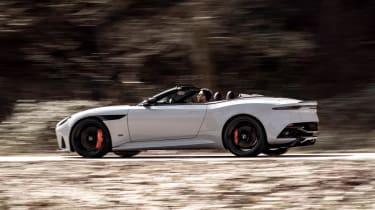 Aston Martin DBS Superleggera Volante - panning side shot