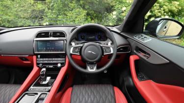 Jaguar F-Pace SVR - interior wide view