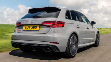 Audi RS3 rear 3/4 tracking