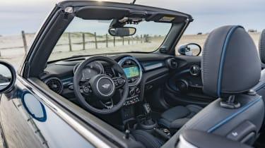 MINI Sidewalk Convertible steering wheel and interior