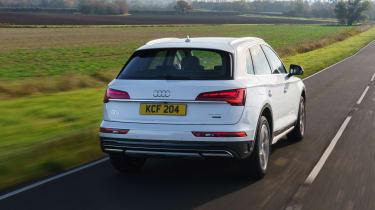 Audi Q5 driving - rear