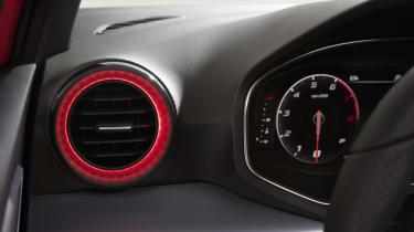 2021 SEAT Ibiza FR Desire Red - interior detail