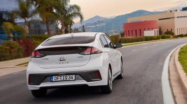 Hyundai Ioniq Hybrid rear driving