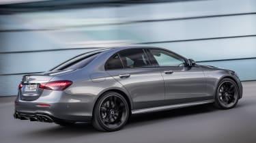 Mercedes-AMG E53 saloon driving - rear view
