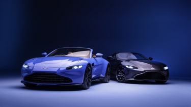 2020 Aston Martin Vantage Roadster and Coupe - front on view