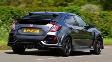Honda Civic Type R Sport Line rear 3/4 tracking