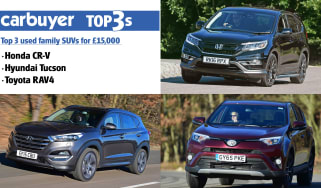 Top 3 used family SUVs for £15,000 - hero