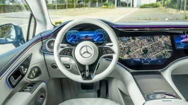 Mercedes EQS hatchback interior