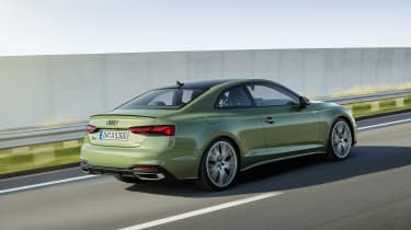 Audi A5 driving rear
