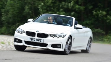 The BMW 4 Series Convertible is a stylish four-seater with a folding hard-top