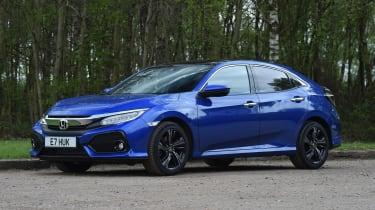 Honda Civic hatchback front 3/4 static