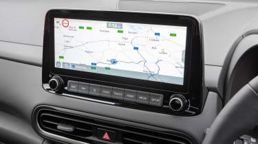 Hyundai Kona Hybrid SUV infotainment display