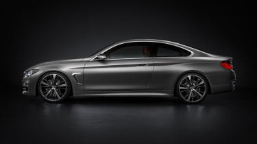 BMW 4 Series Coupe 2013 side profile
