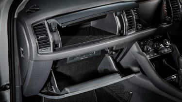 The Skoda Kodiaq's split-level glovebox is just one of the clever interior storage spaces