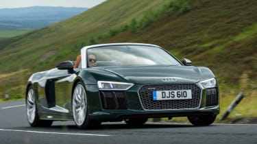 The R8 has Audi's quattro four-wheel drive system for extra grip
