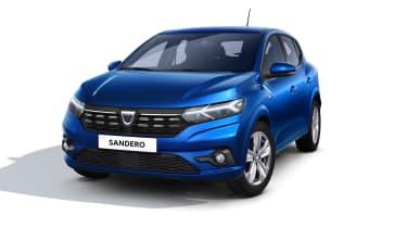 New Dacia Sandero in blue