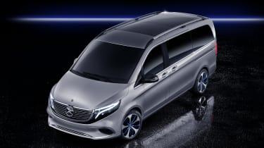 Mercedes Concept EQV MPV aerial