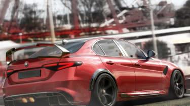 Alfa Romeo Giulia GTAm rear