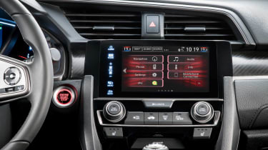Up-to-date infotainment will be a feature of the latest Honda Civic hatchback