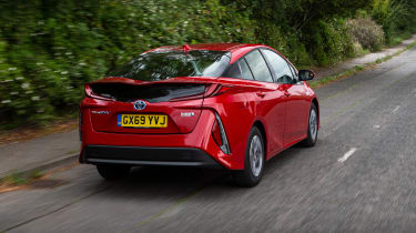 Toyota Prius Plug-in Hybrid hatchback rear 3/4 tracking
