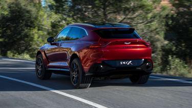 Aston Martin DBX driving - rear view
