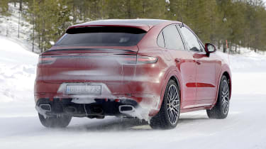 Porsche Cayenne Coupe GTS in development - rear view