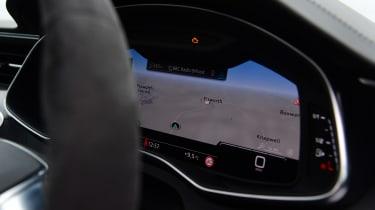 Audi RS6 Avant estate digital instrument cluster